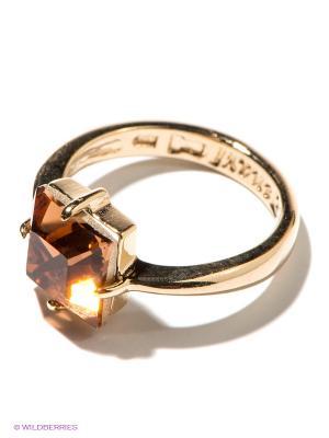 Кольцо Jenavi. Цвет: золотистый, светло-коричневый