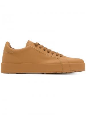 Кроссовки со шнуровкой Jil Sander. Цвет: коричневый