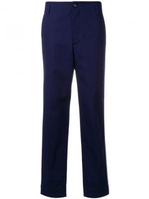 Широкие брюки  с контрастной окантовкой Golden Goose Deluxe Brand. Цвет: синий