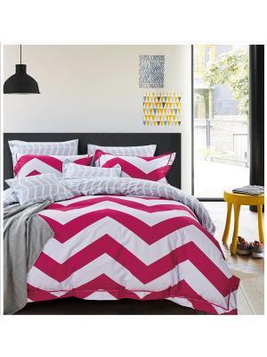 Комплект постельного белья ROMEO AND JULIET. Цвет: светло-серый, малиновый