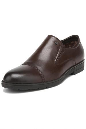 Полуботинки с острым носком Alba. Цвет: темно-коричневый