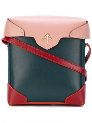 Contrast colour satchel Manu Atelier. Цвет: синий