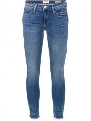 Укороченные джинсы Le Skinny de Jeanne Frame Denim. Цвет: синий