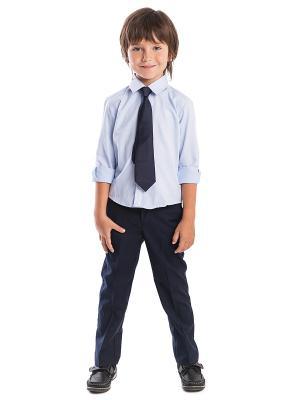 Сорочка текстильная для мальчиков PlayToday. Цвет: голубой