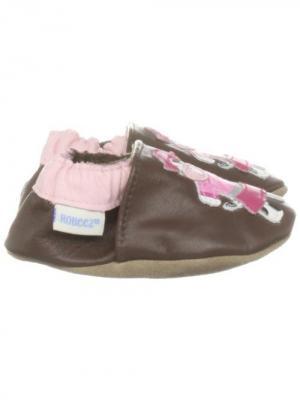 Ботинки MaLeK BaBy. Цвет: темно-коричневый, розовый