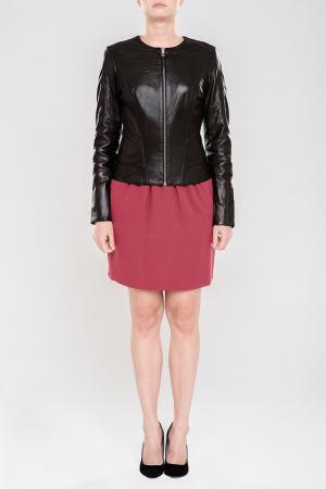 Куртка кожаная SUSSEX. Цвет: черный
