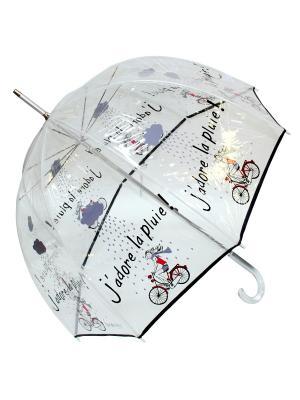 Зонт Isotoner. Цвет: прозрачный