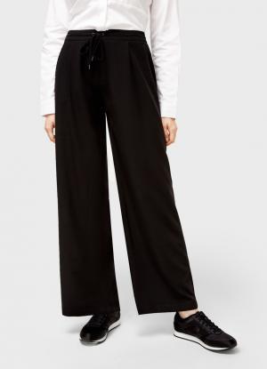 Широкие брюки OSTIN. Цвет: черный