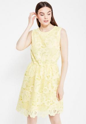 Платье Lusio. Цвет: желтый