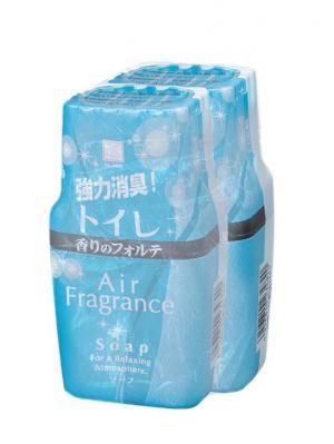 Air Fragrance фильтр запахов в туалете с ароматом свежести и чистоты 2шт Kokubo. Цвет: голубой