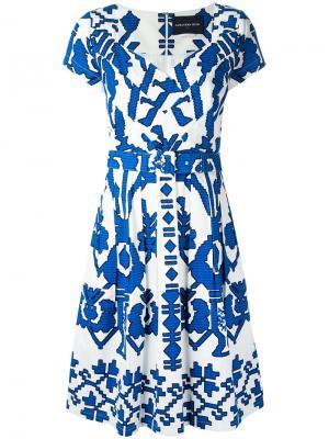 Платье Ivette Samantha Sung. Цвет: синий