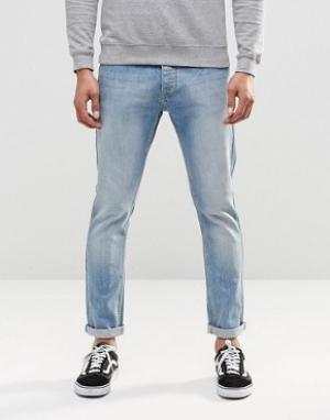 LDN DNM Стретчевые джинсы скинни в винтажном стиле. Цвет: синий