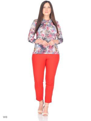 Блузка KATERINA. Цвет: розовый, серый