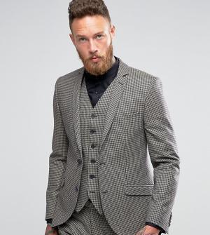 Heart & Dagger Облегающий пиджак с узором гусиная лапка. Цвет: коричневый