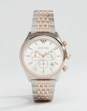 Emporio Armani Наручные часы с хронографом AR1998. Цвет: серебряный