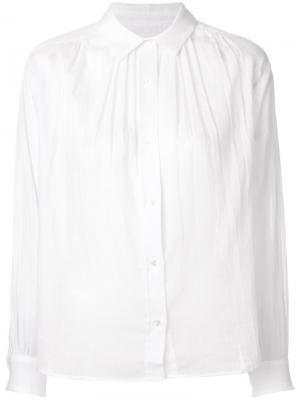 Блузка с плиссировкой Masscob. Цвет: белый