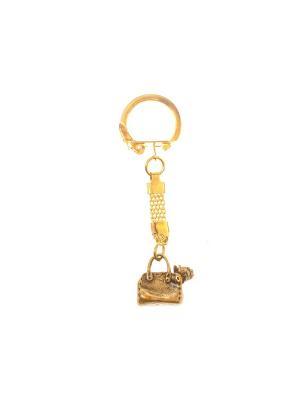 Брелок Собачка в сумке Aztek. Цвет: бронзовый, светло-оранжевый, желтый, коричневый