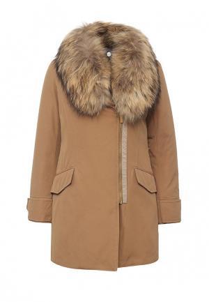 Куртка утепленная Pennyblack. Цвет: бежевый