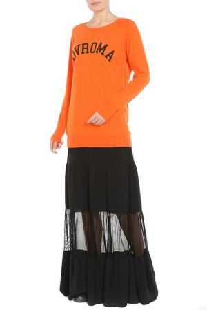 Платье DVROMA. Цвет: оранжевый, черный