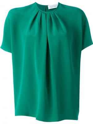 Плиссированная блузка с рукавами летучая мышь Gianluca Capannolo. Цвет: зелёный