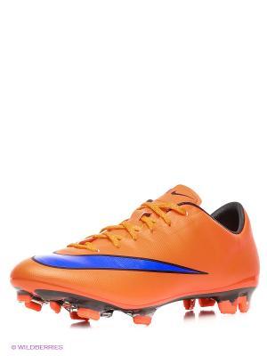 Бутсы MERCURIAL VELOCE II FG Nike. Цвет: оранжевый