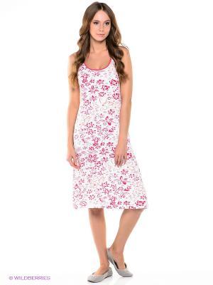 Платье Taubert. Цвет: белый, фуксия