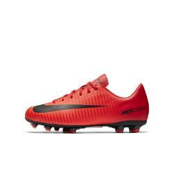 Футбольные бутсы для игры на твердом грунте дошкольников/школьников  Jr. Mercurial Victory VI Nike. Цвет: красный