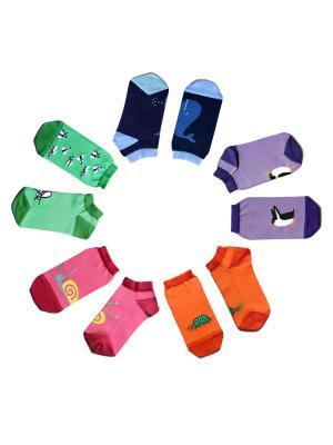 Набор носков Big Bang Socks. Цвет: темно-синий, зеленый, фиолетовый, оранжевый, розовый