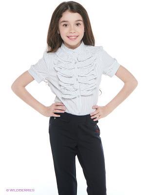 Блузка Nota Bene. Цвет: белый, серый