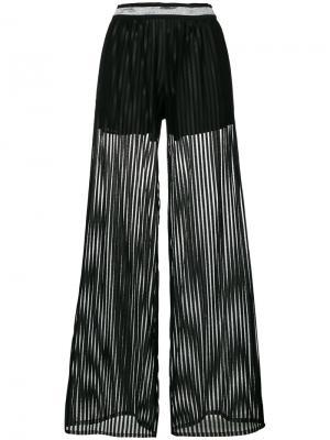 Полосатые расклешенные брюки Just Cavalli. Цвет: чёрный