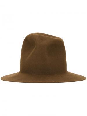 Шляпа Wax Kijima Takayuki. Цвет: коричневый