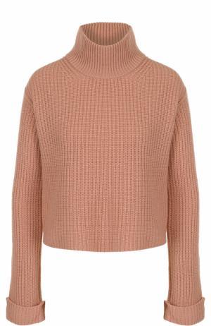 Кашемировый свитер фактурной вязки Forte_forte. Цвет: розовый