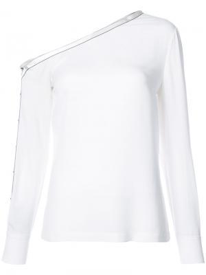 Асимметричная блузка с длинными рукавами Yigal Azrouel. Цвет: белый
