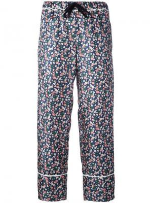 Укороченные брюки с цветочным узором Moncler. Цвет: многоцветный