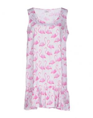 Короткое платье DOMANI. Цвет: белый