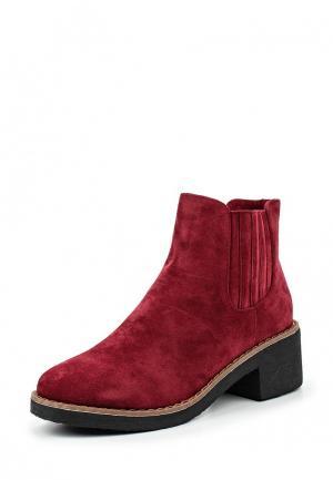 Ботинки Amore. Цвет: бордовый