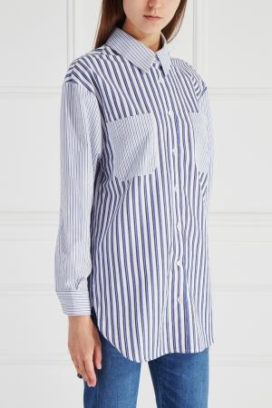 Хлопковая рубашка Mixer. Цвет: синий