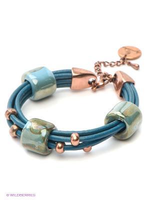 Браслет by Dziubeka. Цвет: серо-голубой, оливковый