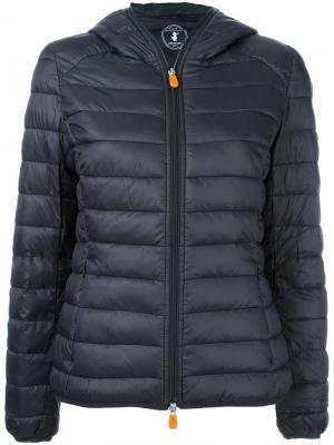 Hooded puffer jacket Save The Duck. Цвет: чёрный