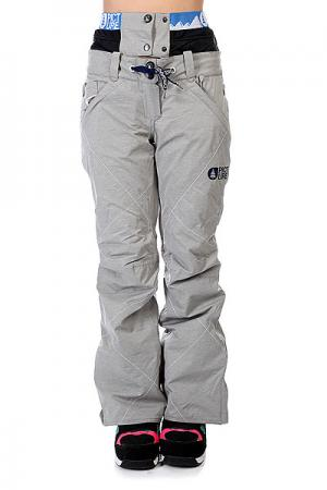 Штаны сноубордические женские  Fever Grey Picture Organic. Цвет: серый
