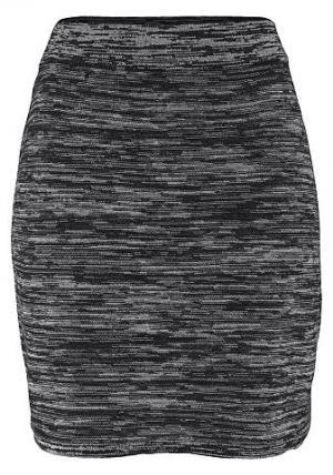 Трикотажная юбка Chillytime. Цвет: белый + черный