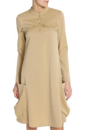 Платье Adzhedo. Цвет: золотистый, рябушка