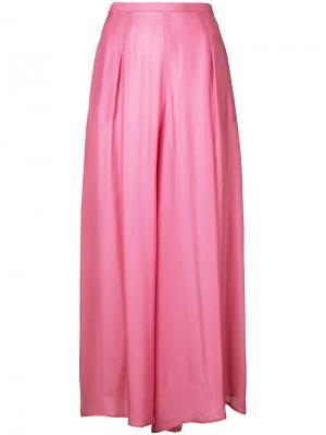 Широкие брюки Paule Ka. Цвет: розовый и фиолетовый