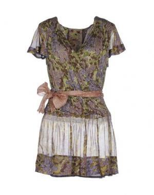 Короткое платье ALICE SAN DIEGO. Цвет: зеленый-милитари