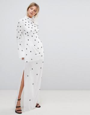 C/meo Collective Декорированное платье Assemble. Цвет: белый