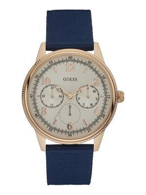 Часы GUESS. Цвет: темно-синий, белый, золотистый