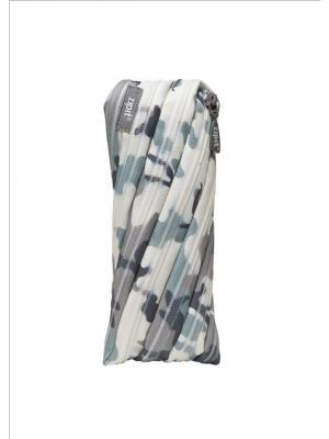 Пенал-сумочка CAMO POUCH, цвет серый камуфляж ZIPIT. Цвет: серый