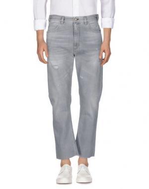 Джинсовые брюки COVERT. Цвет: светло-серый