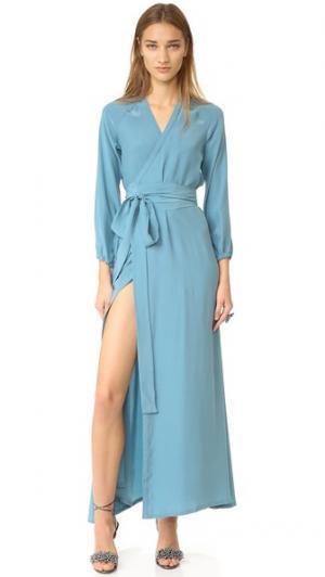 Платье-халат Jagger Rhode Resort. Цвет: серый