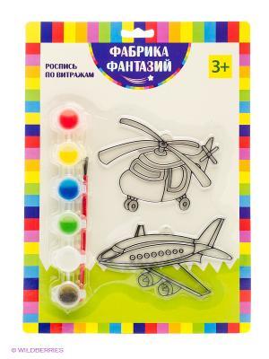 Н-р для росписи витража Вертолет и самолет Фабрика Фантазий. Цвет: зеленый